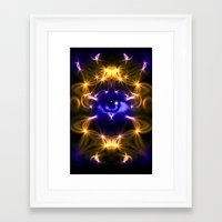 all seeing eye Framed Art Prints featuring All seeing eye by Cozmic Photos