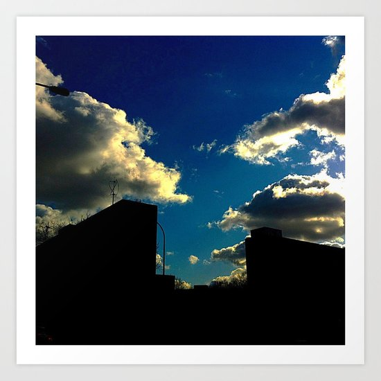 The Clouds above Art Print