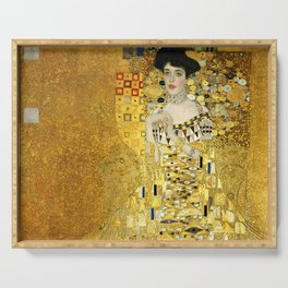 "Gustav Klimt ""Portrait of Adela Bloch-Bauer I"" Serving Tray"
