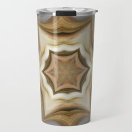 Metallic Gold Silver Mandala Style Design - Fluid Nature Travel Mug