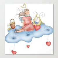 angel Canvas Prints featuring Angel by Catru