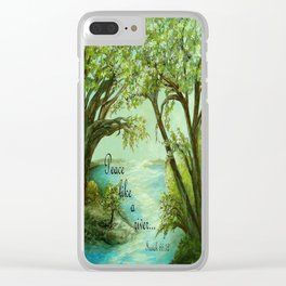 Peace Like a River Clear iPhone Case