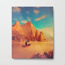 Golden Mount Metal Print