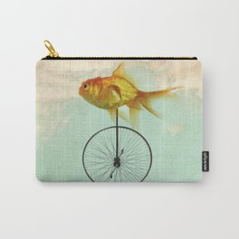 unicycle goldfish Carry-All Pouch