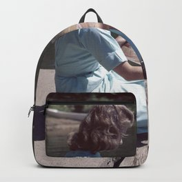 Woman Reading By The Lake (Vintage) Backpack