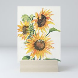 Sunny Sunflowers Mini Art Print