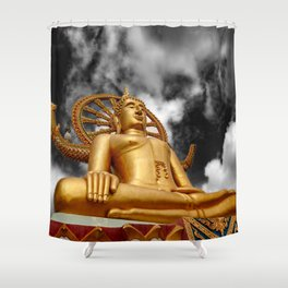 Big Buddha Thailand Shower Curtain