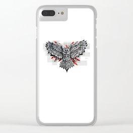 Eagle owl Clear iPhone Case