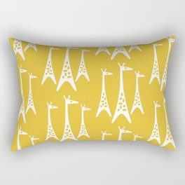 Mid Century Modern Giraffe Pattern 221 Mustard Yellow Rectangular Pillow