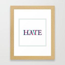 Love and Нate Framed Art Print