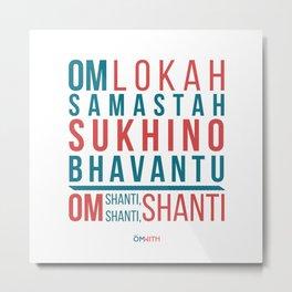 Lokah Samastah Mantra Yoga Metal Print