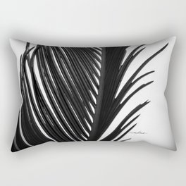 Palm: The Abstract in Black Rectangular Pillow