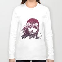 les miserables Long Sleeve T-shirts featuring Les Miserables Girl by Pop Atelier