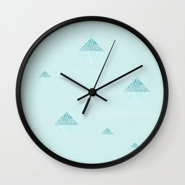Dazzling ombré dotted squares teal Wall Clock