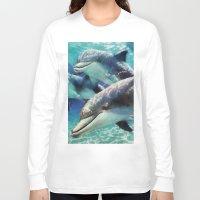 dolphin Long Sleeve T-shirts featuring Dolphin by A.Aenska-Cholpanova
