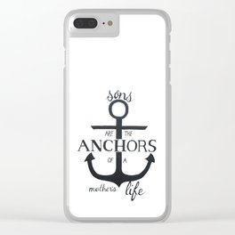 Sons Quote Pen and Ink Clear iPhone Case