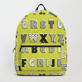 ABC mustard Backpack