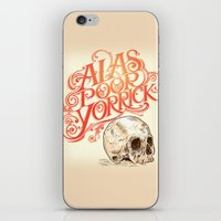 hamlet iPhone & iPod Skins featuring Hamlet Skull by Rachel Caldwell