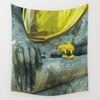 thailand Wall Tapestries featuring Buddha in Thailand by Maria Heyens