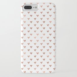 rose gold hearts iPhone Case