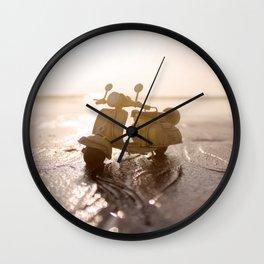 Little Cars, Big Planet (Beach) Wall Clock