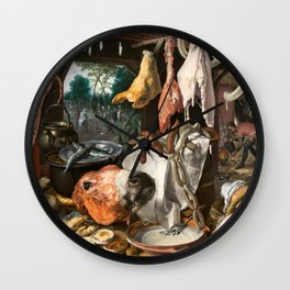 A Meat Stall with the Holy Family Giving Alms, 1551 Wall Clock