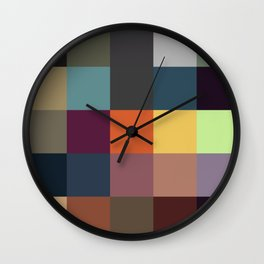 Pixel Patchwork Kappa Wall Clock