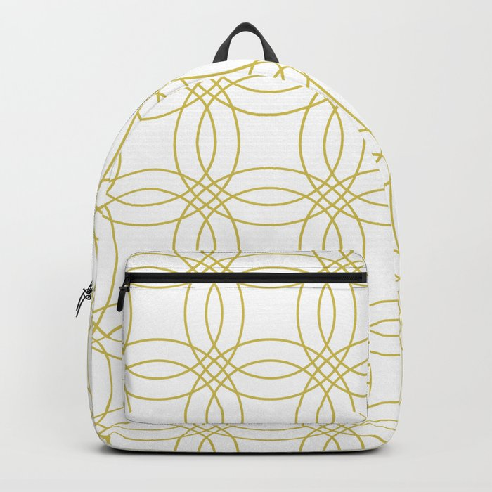 Simply Vintage Link Mod Yellow on White Backpack
