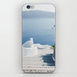 Santorini Stairs I (Vertical) iPhone Skin