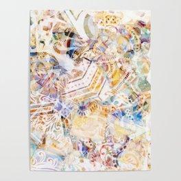 Mosaic of Barcelona XI Poster