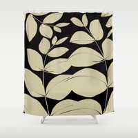 aelwen Shower Curtains featuring In the Jungle by Aelwen