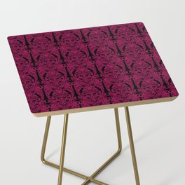 The Grand Salon, Magenta Mourning Side Table