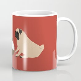 Christmas Pudding and Pugs Coffee Mug