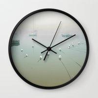 cape cod Wall Clocks featuring Cape Cod Morning by Raymond Earley