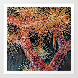 Joshua Tree Mosaic by CREYES Art Print
