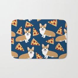 Pizza and Corgi Bath Mat