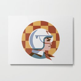 Headgear: Speed Racer Metal Print