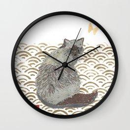 CAT, SEIGAIHA Wall Clock