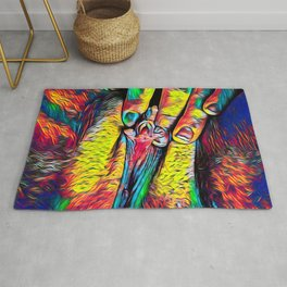 4246s-RES Abstract Pop Color Erotic Explicit Clitteral Psychedelic Yoni Self Love Rug