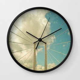 Over the Bridge Wall Clock