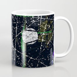 Abstract Black and White Etching Design Coffee Mug