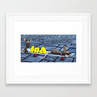 shopping Framed Art Prints featuring shopping by Ancello
