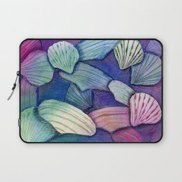 Sea Shell Watercolor Mixed Media Art Laptop Sleeve