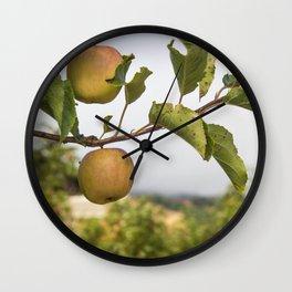 Apples on a Tree Wall Clock