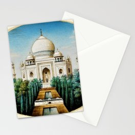 Classical Indian Masterpiece 1825 'Taj Mahal, Agra' - Artist Unknown Stationery Cards