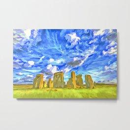 Stonehenge Pop Art Metal Print