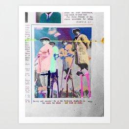 French Stilt Walkers Art Print