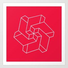 Minimal /  Chakra Symbol Art / Optical Illusion Star Art Print