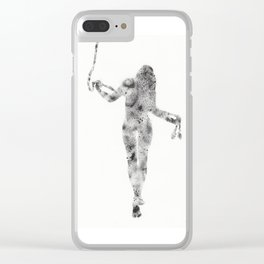 Feminine figure with rope Clear iPhone Case
