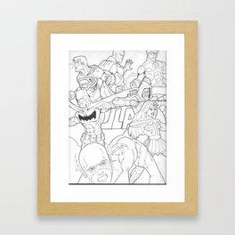 JLA Framed Art Print